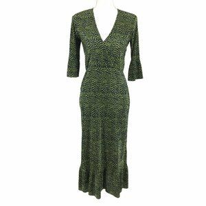Asos NWOT V-Neck Faux Wrap Dress Back Cut Out